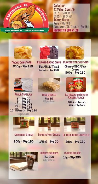 Shop / Brand Name: Tortilleria El Mexicano Location: SA-2 Pinagbuhatan, ...