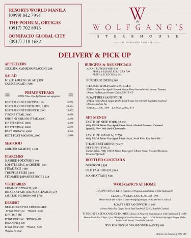 Wolfgang's Steakhouse The Wolfgang's Steakhouse online ordering website...