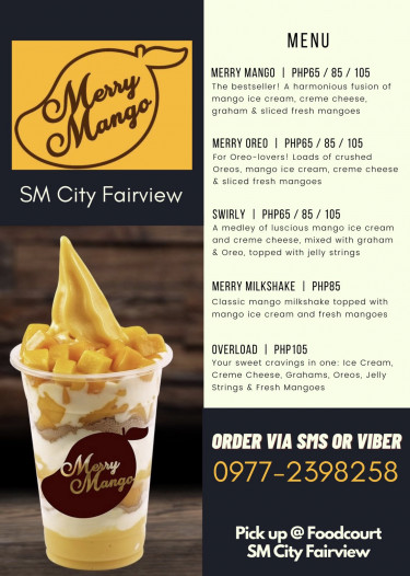 MERRY MANGO Satisfy your mango cravings with our delicious soft-serve ice ...